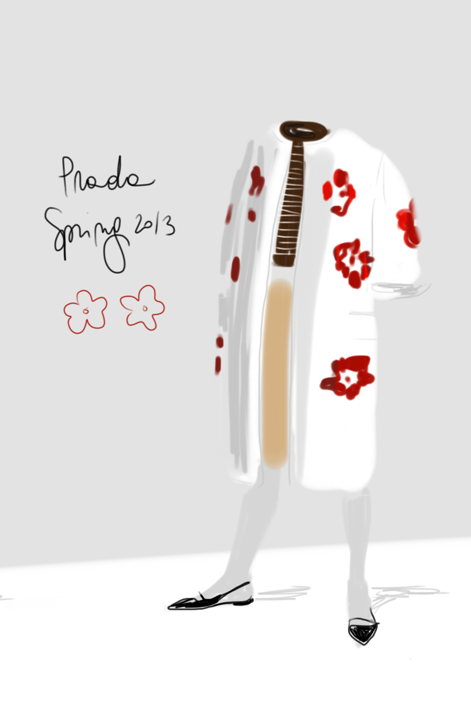 Flower Coat illustration by Silvana Mariani