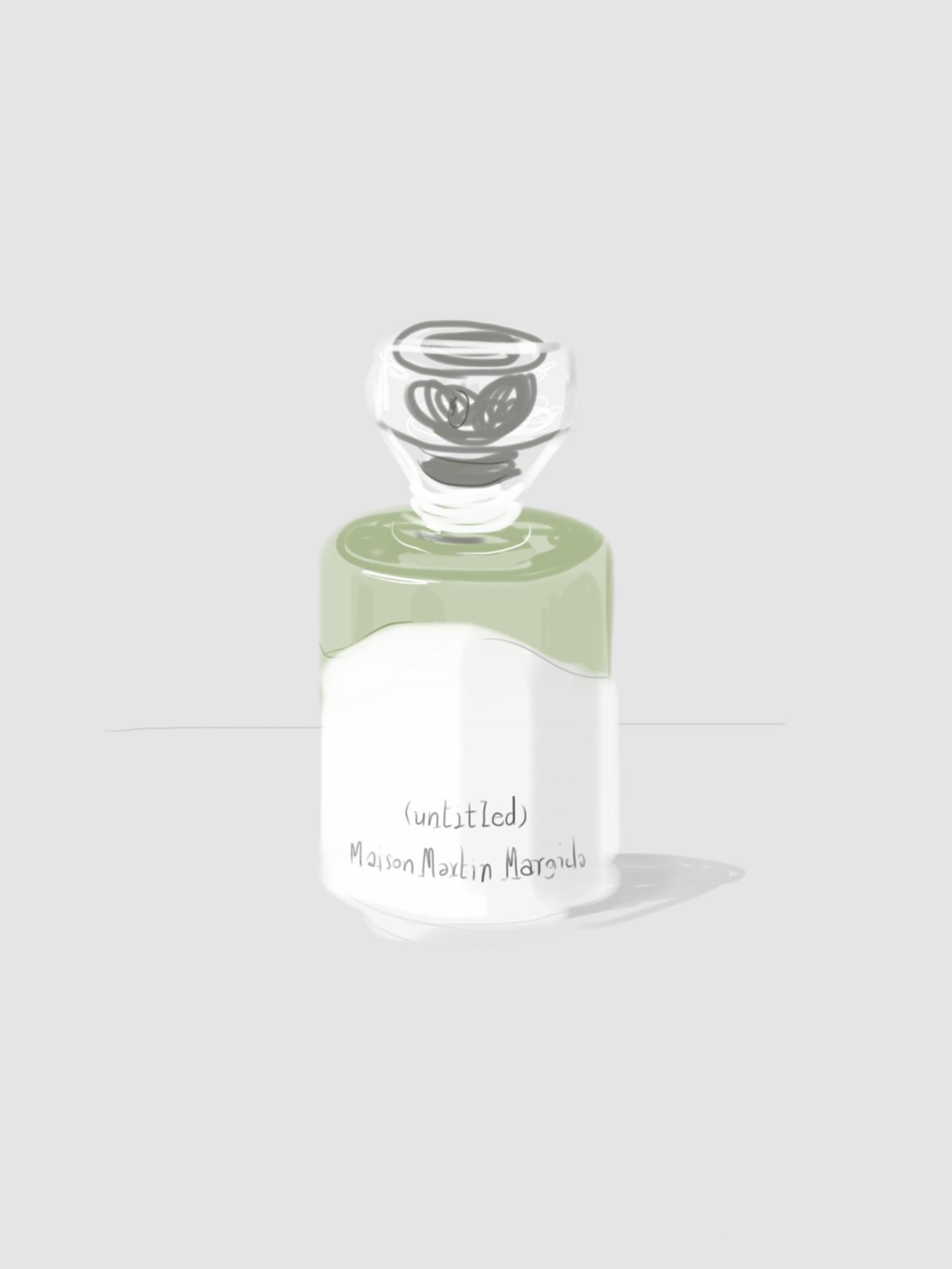 La Pureté bottle illustration by Silvana Mariani