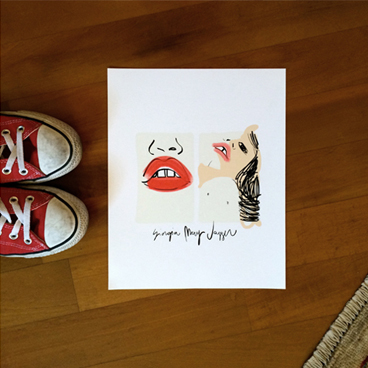 Giorgia May Jagger Portrait art print