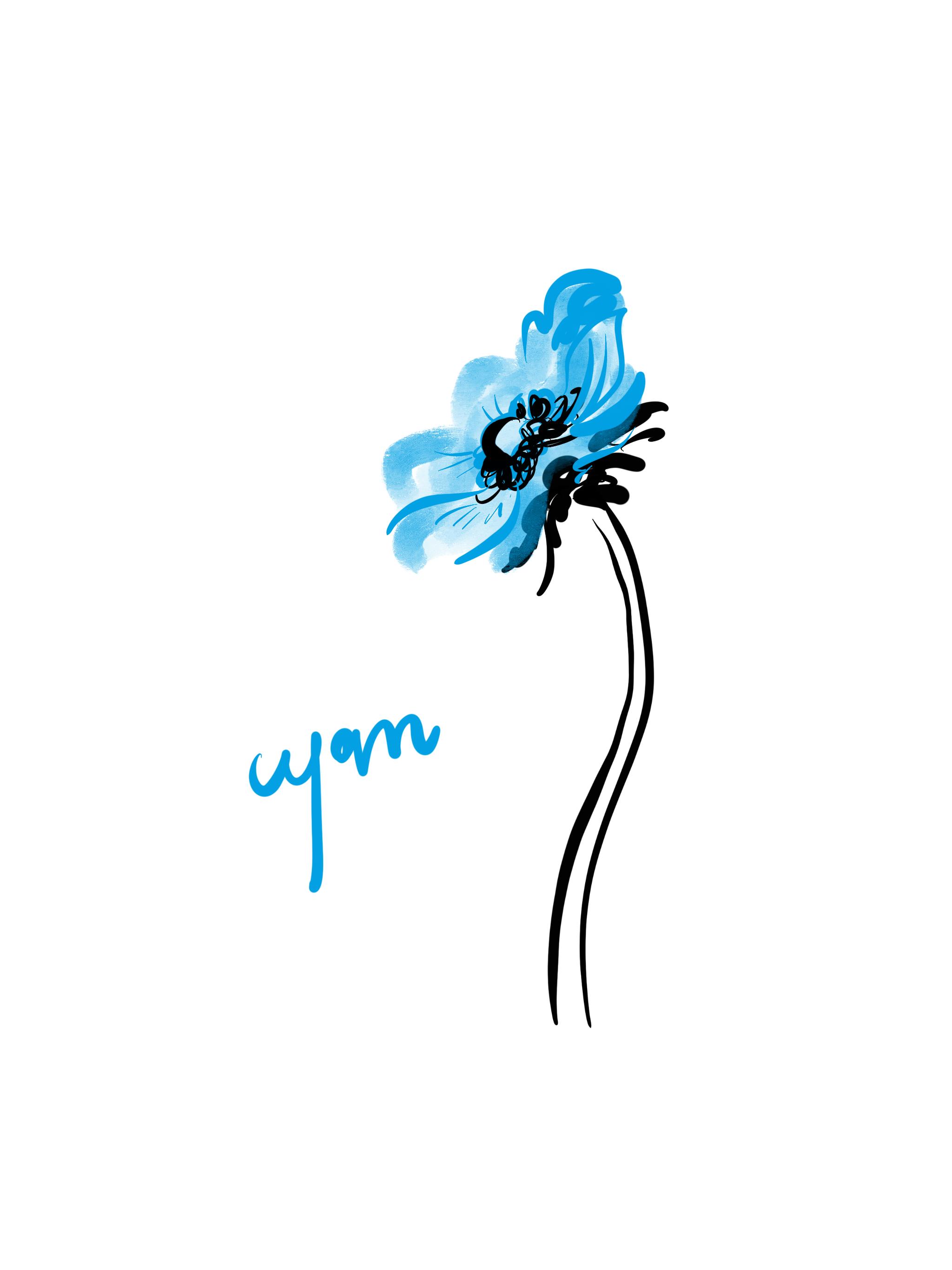 Poppy, Cyan fashion series - Open Toe illustration