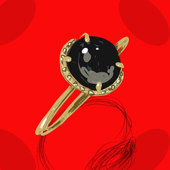 jewels pattern by Silvana Mariani