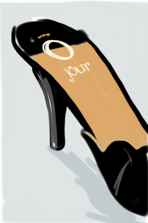 O Jour, shoes illustration by Silvana Mariani