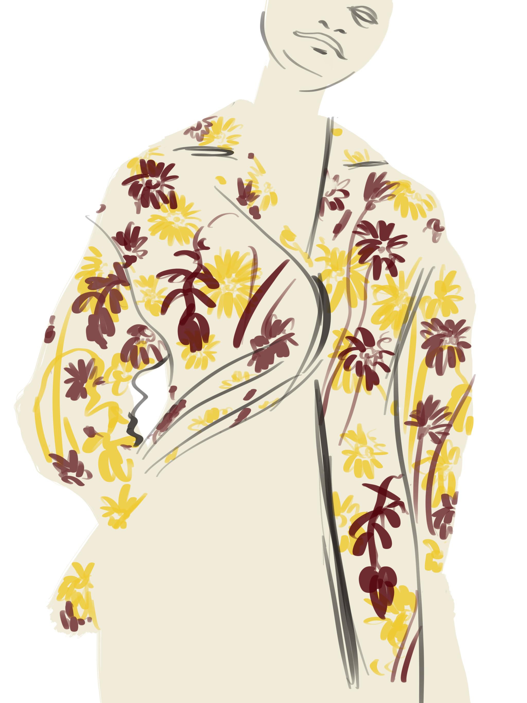 Hawaian Shirt illustration by Silvana Mariani