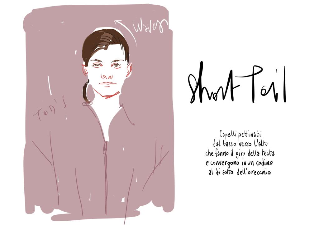Short tail - beauty illustration by Silvana Mariani