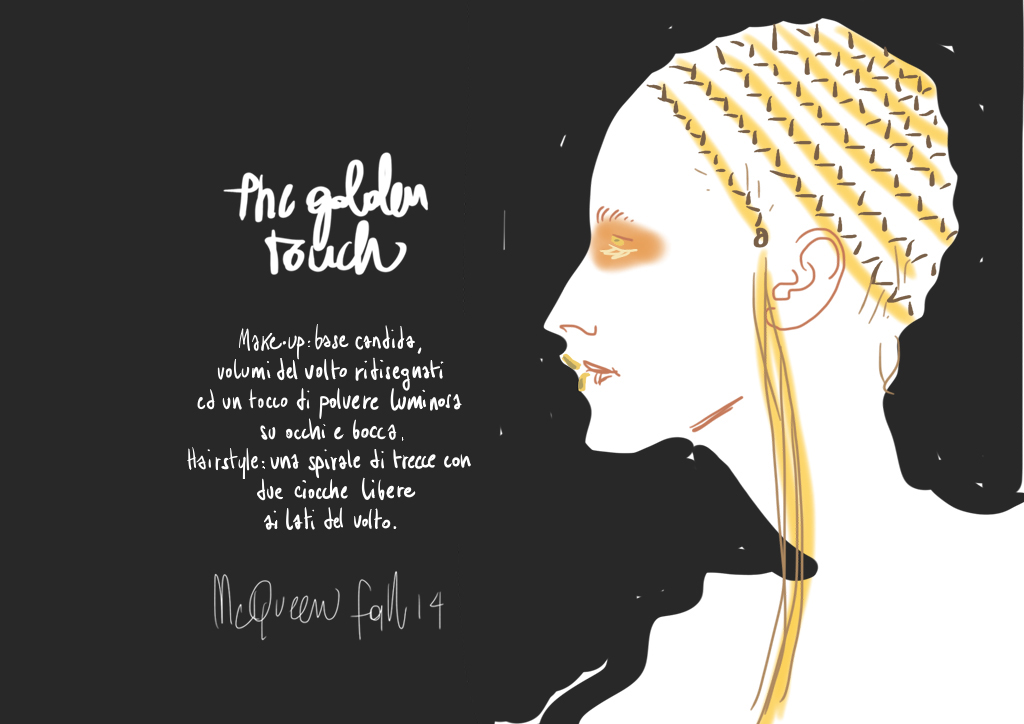 Golden Make-up | beauty illustration by Silvana Mariani