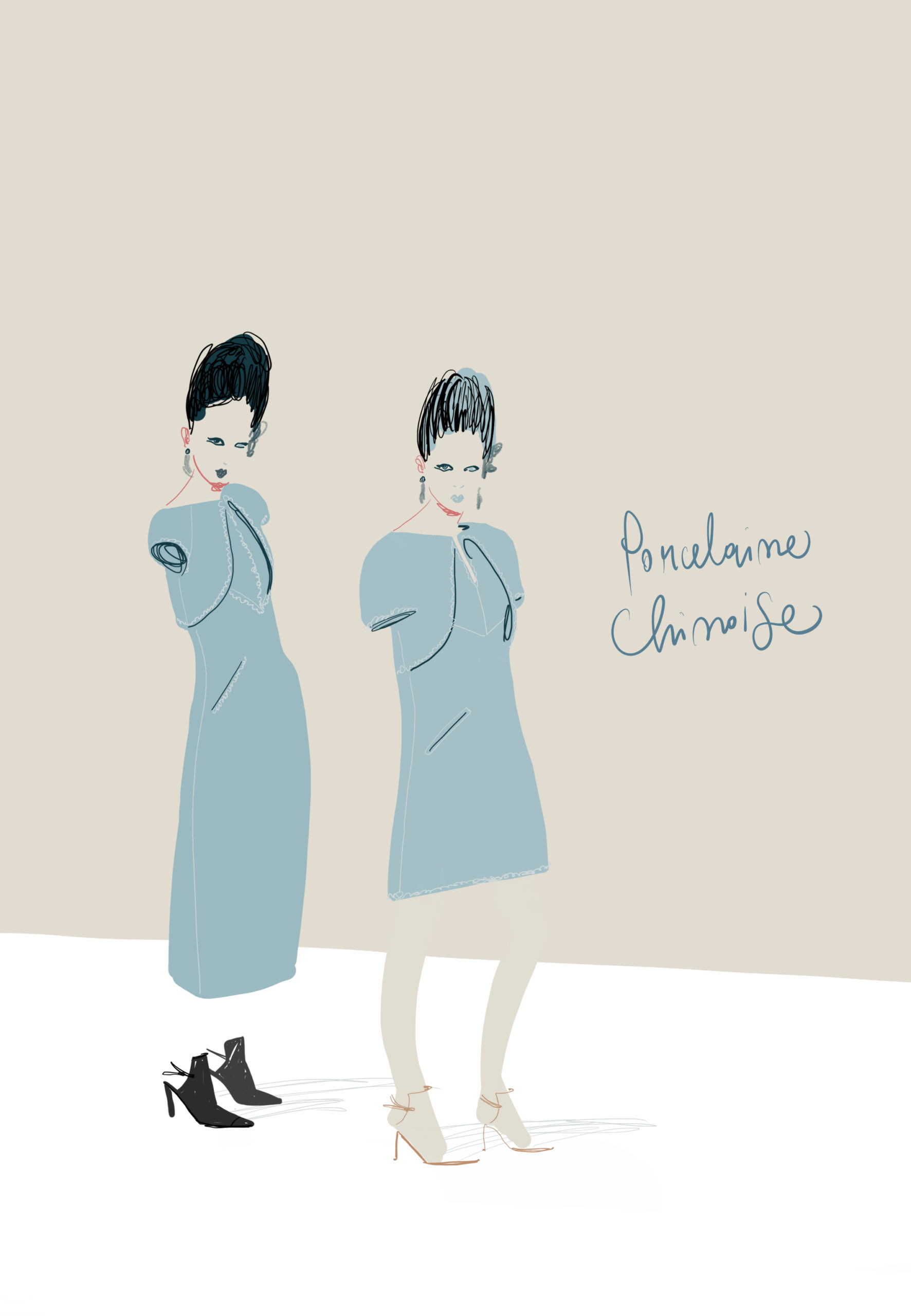 Chanel Couture illustration by Silvana Mariani