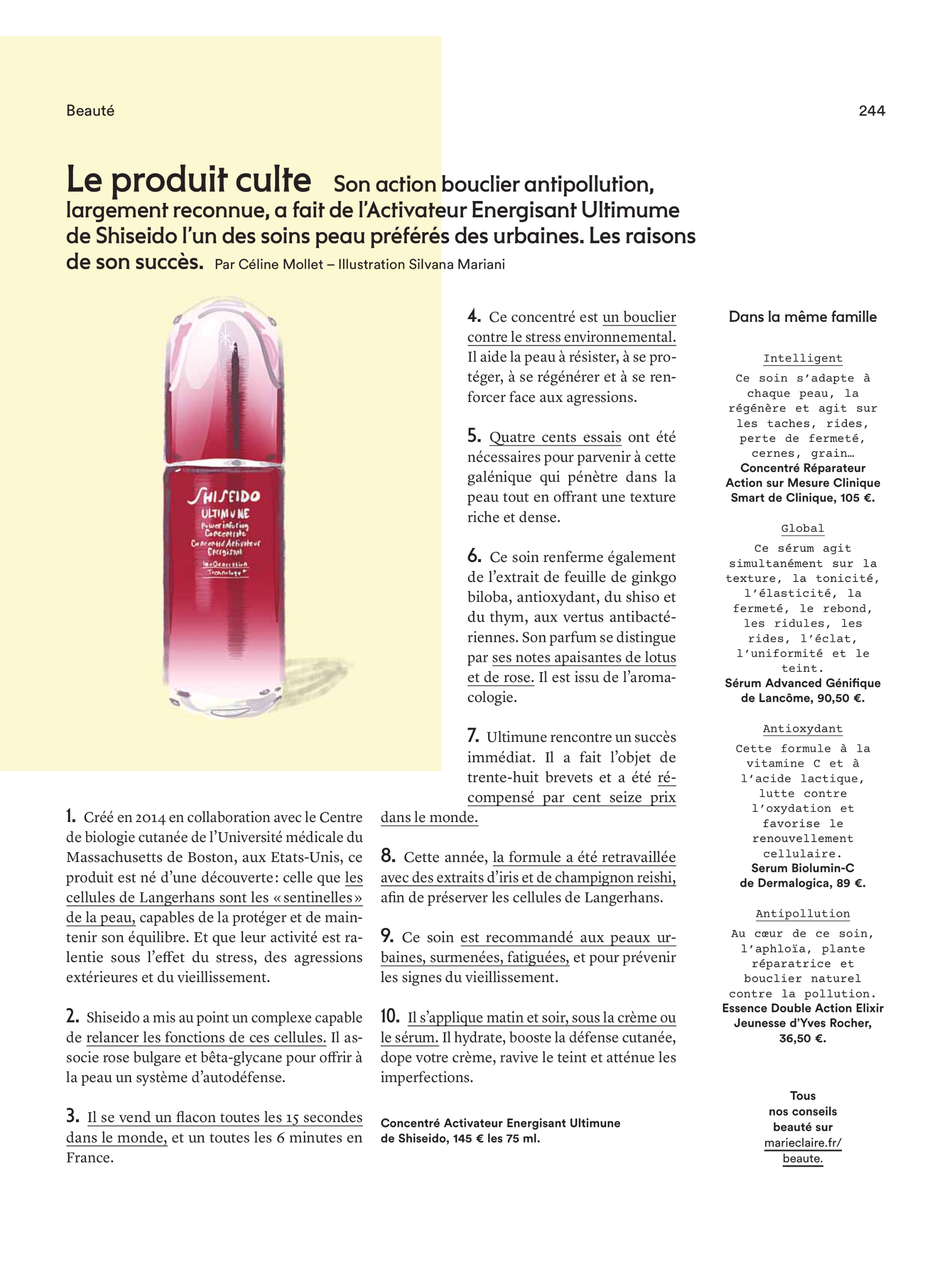 Le Produit Culte | Beauty Illustration by Silvana Mariani