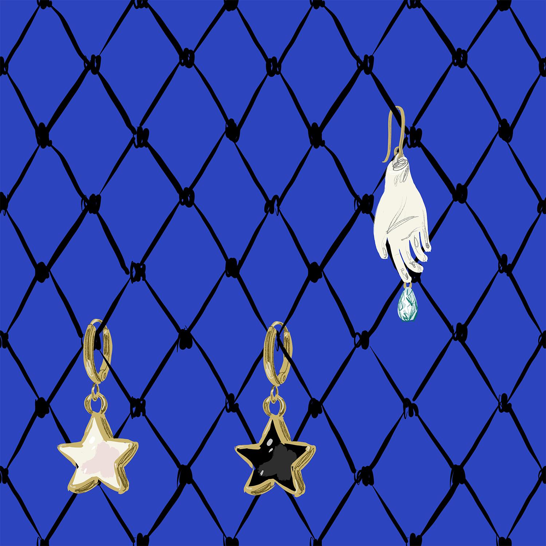 Earings detalil pattern by Silvana Mariani