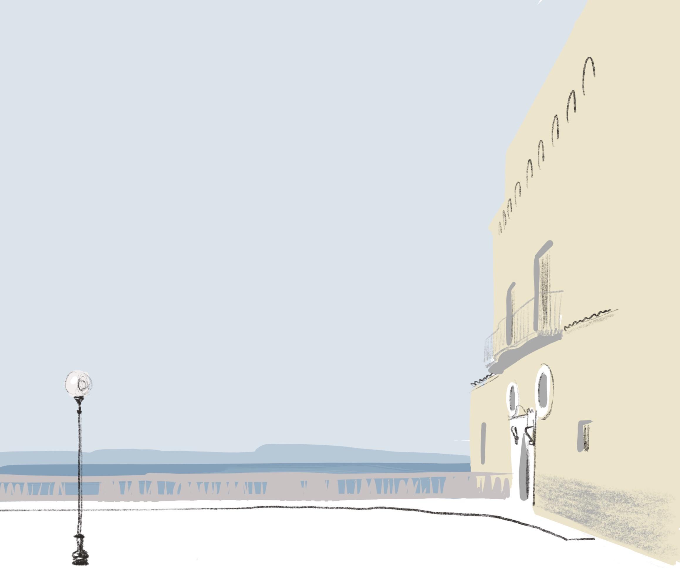 Italian Architecture illustration by Silvana Mariani