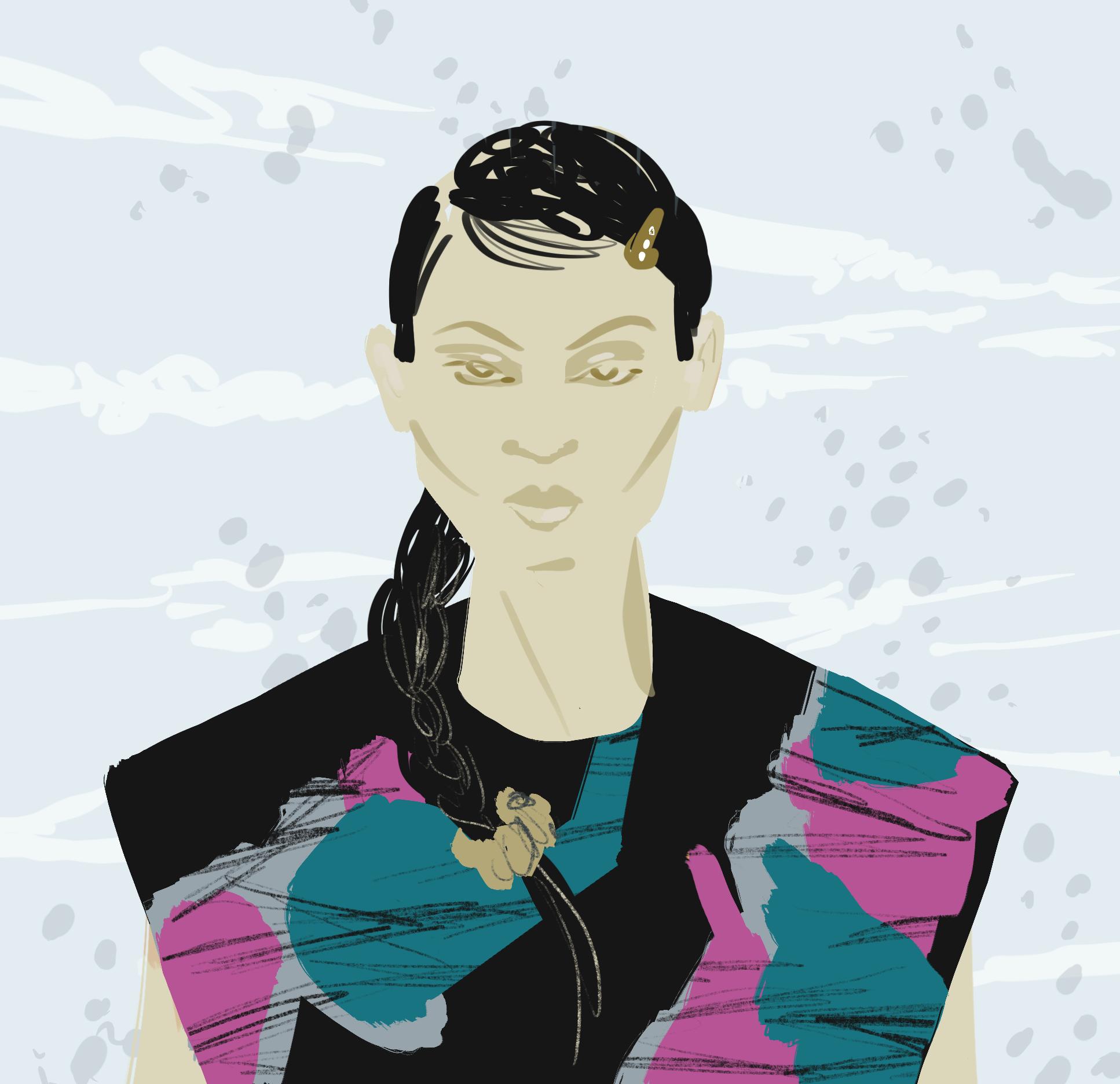 Triangle blouse - fashion Illustration