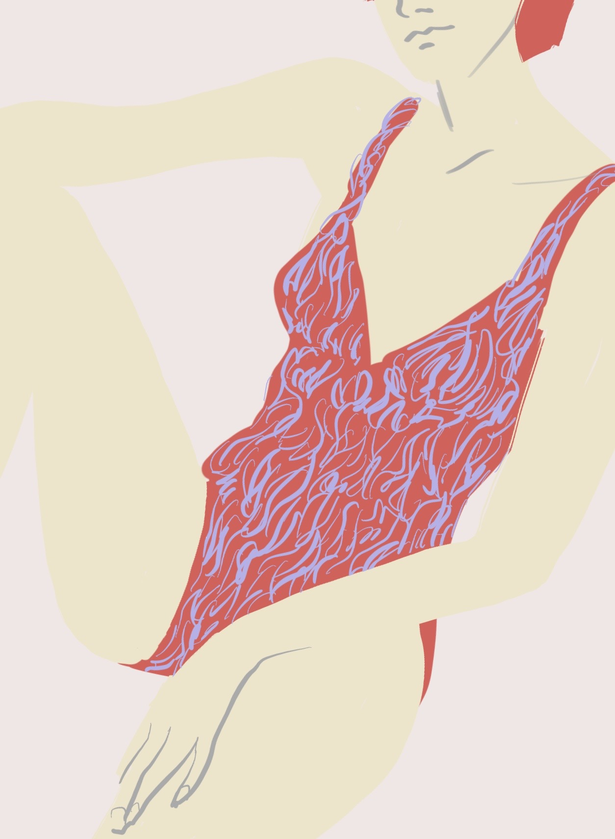 Swimvest fashion illustration by Silvana Mariani