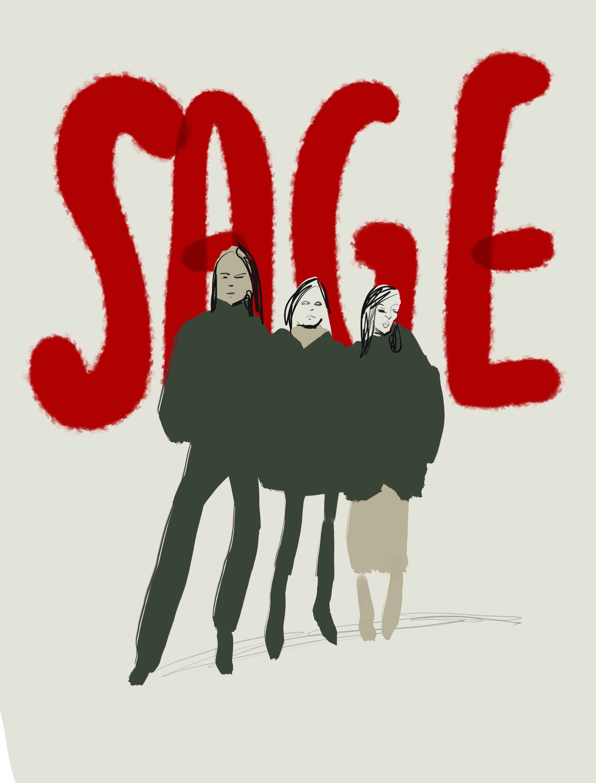 SAGE - illustration by Silvana Mariani