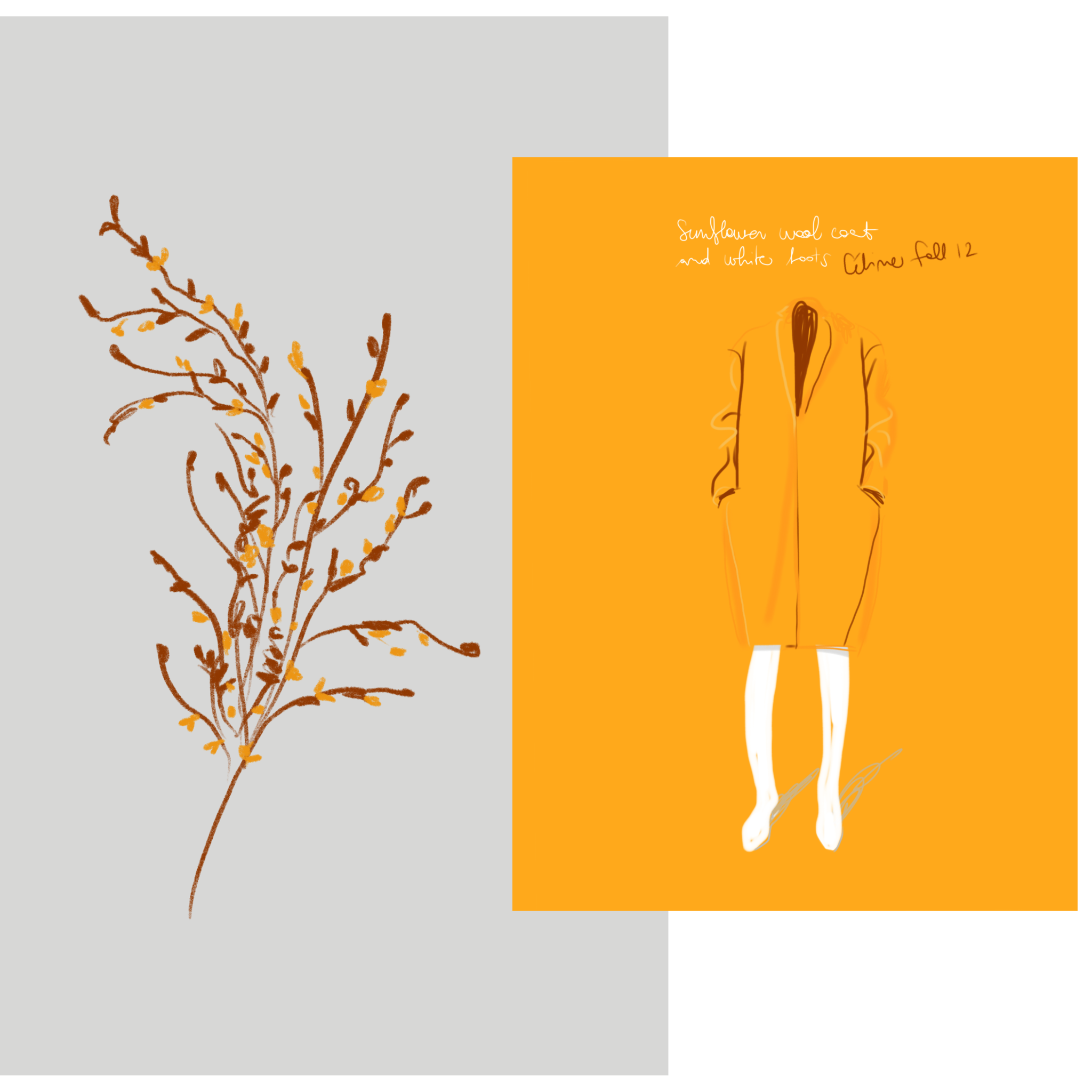 Fall colorscomposition | Open Toe Illustration