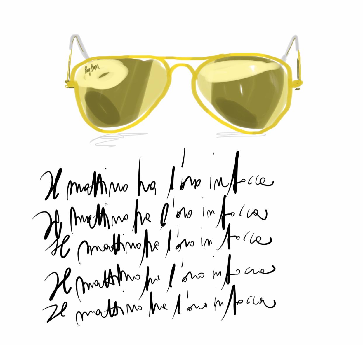 Sunglasses Still-life illustration