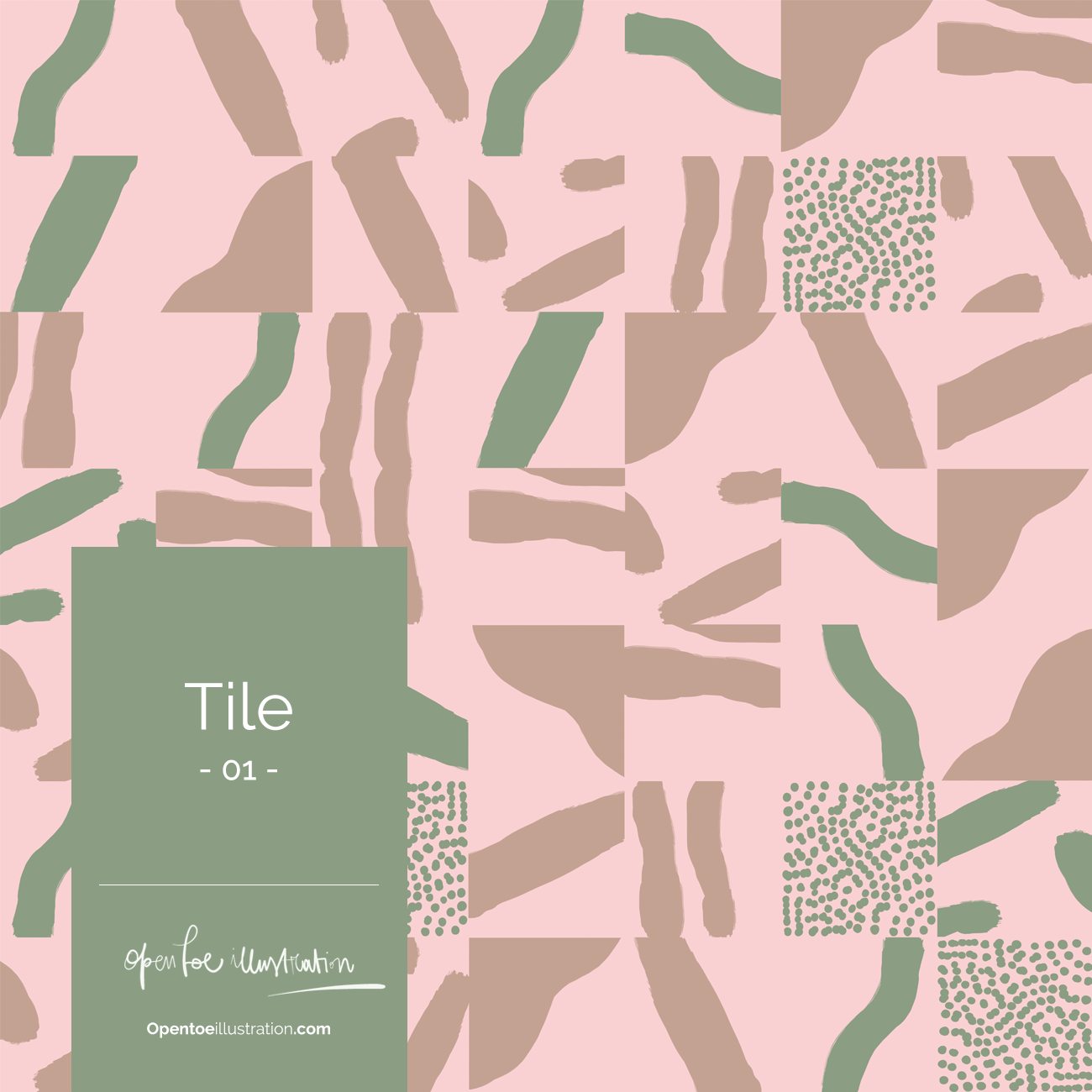 Pattern Design | Open Toe Illustratioon by Silvana Mariani