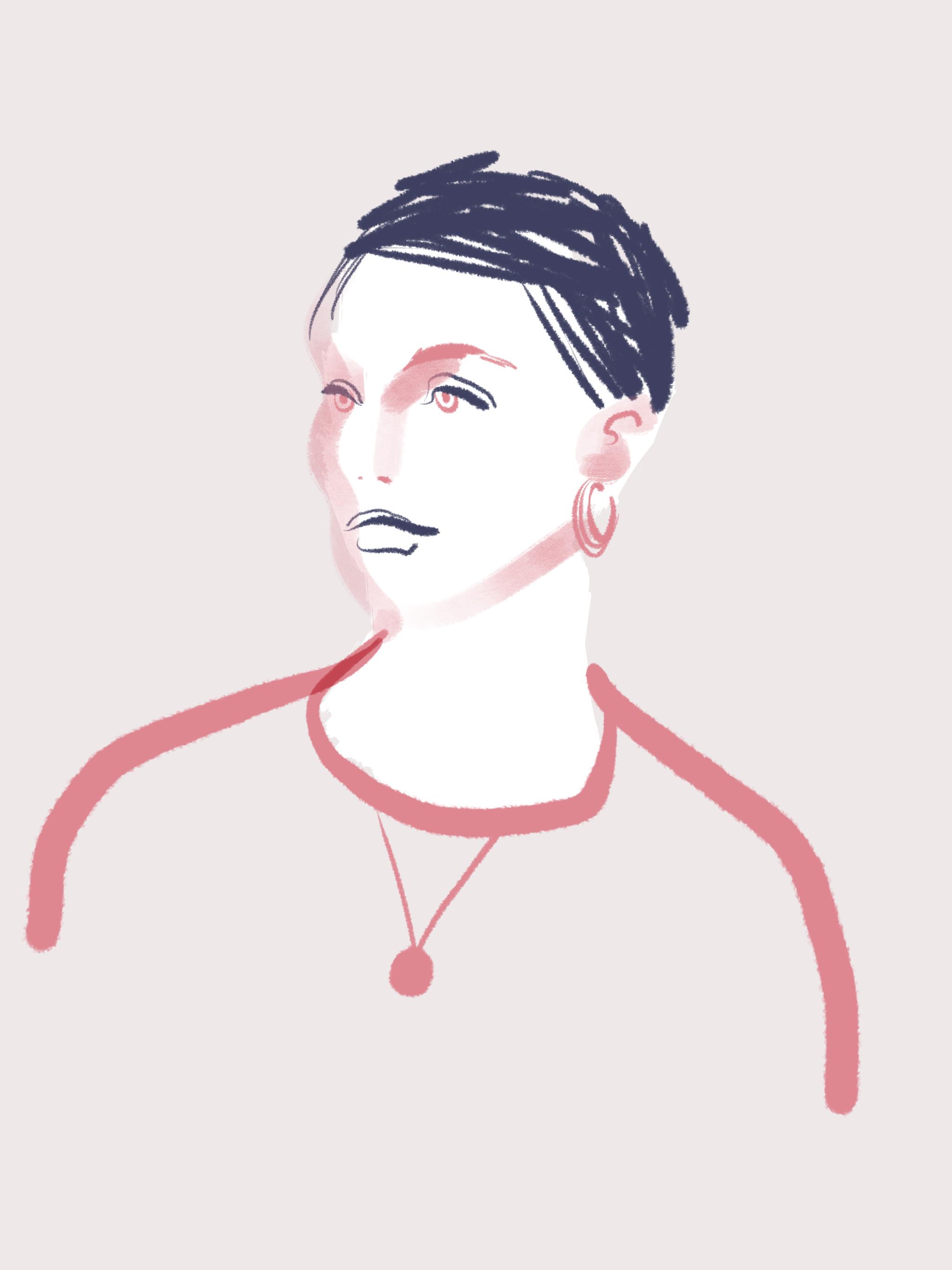 Pixie Cut - Beauty Illustration by Silvana Mariani